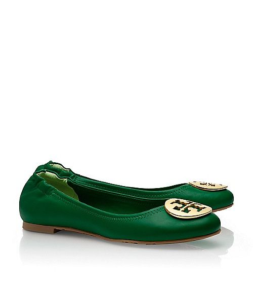 Tory Burch Reva Ballet Flats in gorgeous green!