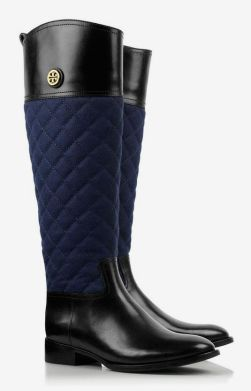 What a great riding boot - Tory Burch navy and black boots
