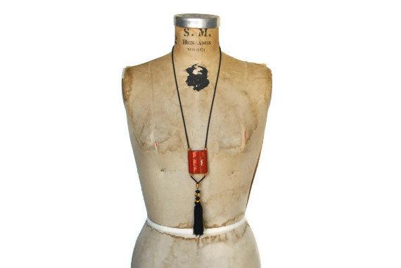 Vintage YSL tassel necklace - $125.00