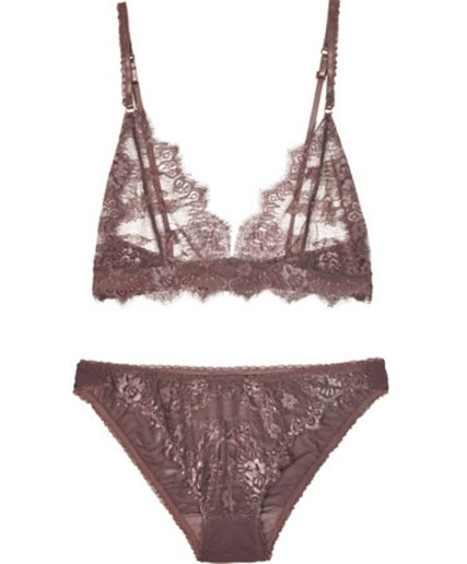 Lonely Taupe Eyelash Lace Set