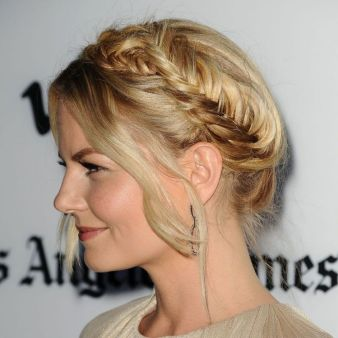 jennifer morrison braided bun