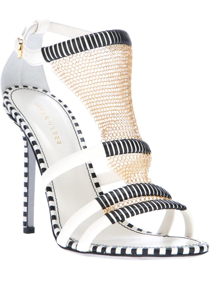 SERGIO ROSSI chain mail sandal