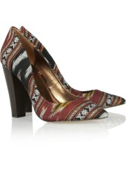12th Street by Cynthia Vincent Lissett ikat woven cotton pumps
