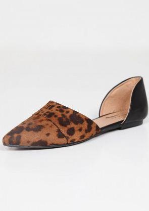 Mikkat Market Triangle Flats-Leopard
