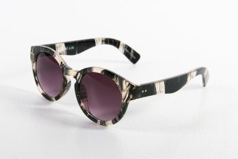 A.OK James Sunglasses in Brushed Black