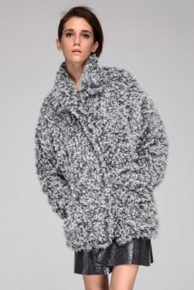 Frontrow Shop Curly Fur Coat