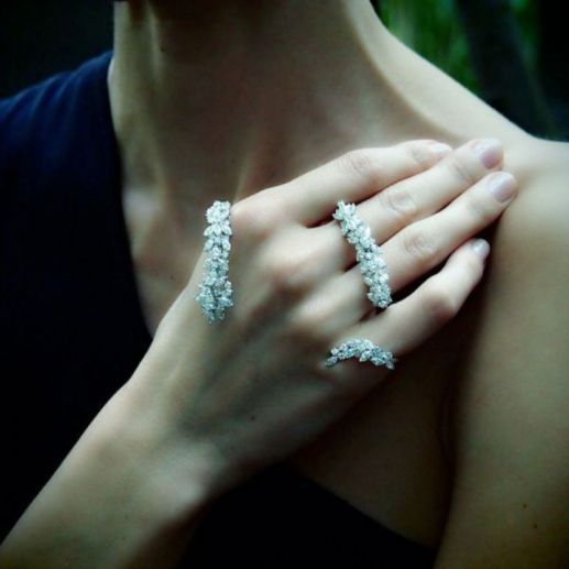 yeprem diamond palm cuff