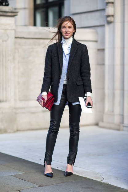 turtleneck layers london fashion week