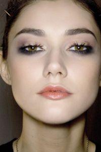 black lower eye makeup