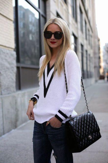 white rag&bone talia v neck sweater