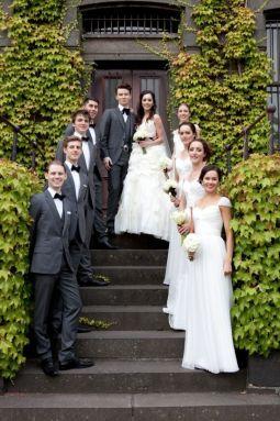 white wearing bridesmaids
