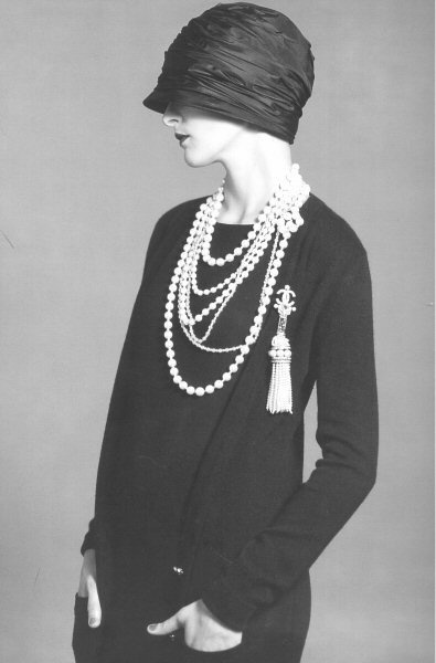 vintage layered pearls
