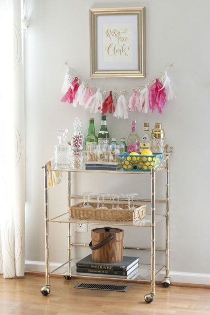 bar cart for celebrations