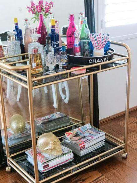 fashionable bar cart