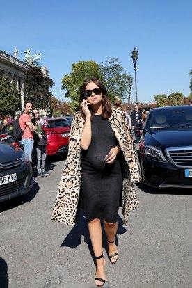 Miroslava Duma PFW Pregnancy style
