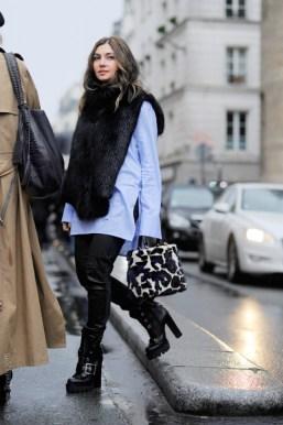 Nasiba Adilova, after Jean Paul Gaultier couture show, Paris, PF