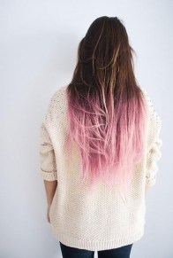 long locks with pink ombre