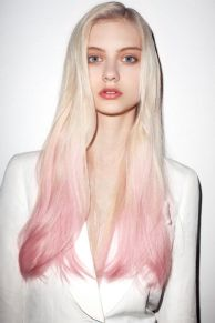 pink blonde ombre hair
