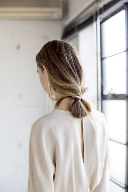 loop low ponytail