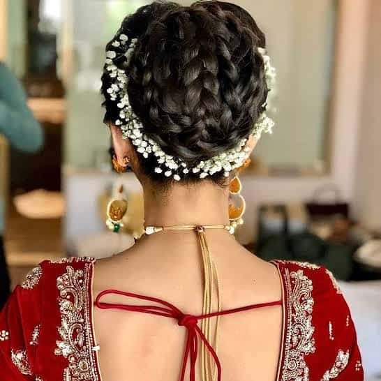 hair styles for lehenga