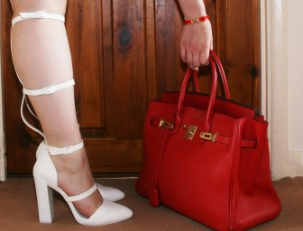 Hermes Birkin, ASOS sandals and Hermes H bracelet
