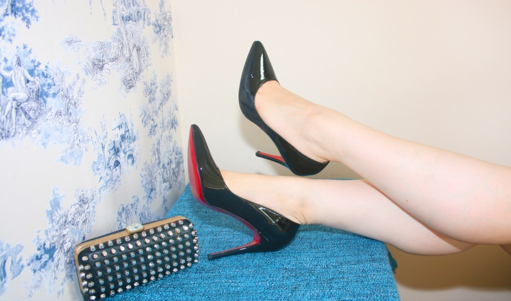 04e3a501cd The Details: Christian Louboutin Pigalle heels and Zara studded clutch