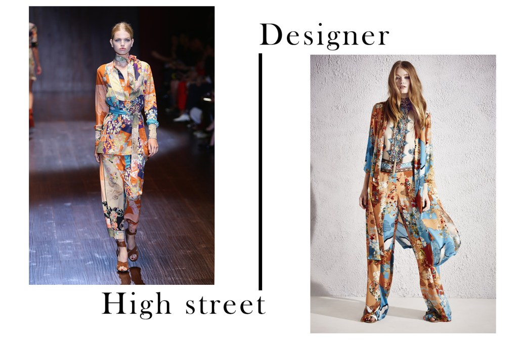 Designer vs High Street Gucci and River Island