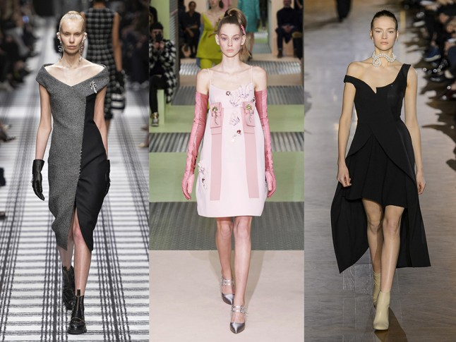 Left to right: Balenciaga, Prada and Stella McCartney