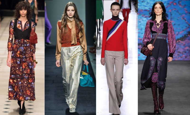 Left to right: Burberry Prorsum, Bottega Veneta, Jonathan Saunders and Anna Sui