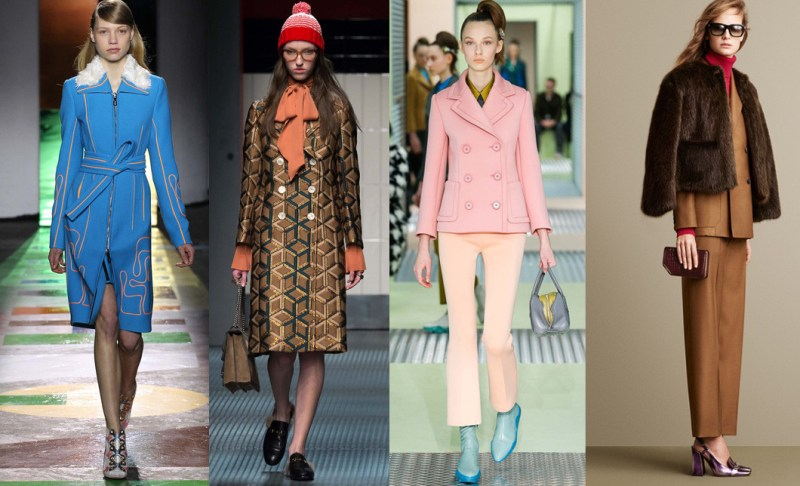 Left to right: Peter Pilotto, Gucci, Prada and Bally
