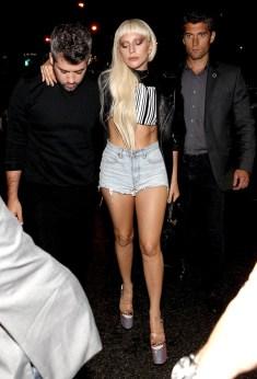 Lady Gaga leaving the Alexander Wang showing.
