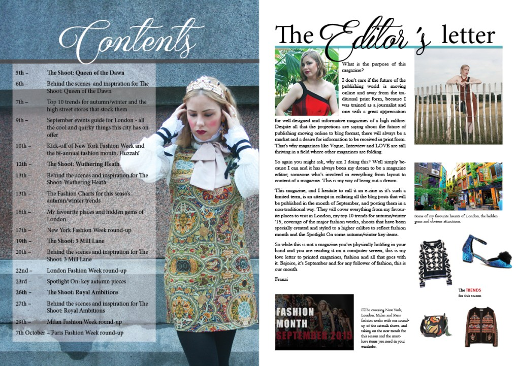 The September issue edited pages 2 and 3