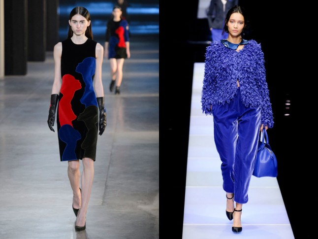 Left to right: Christopher Kane and Giorgio Armani