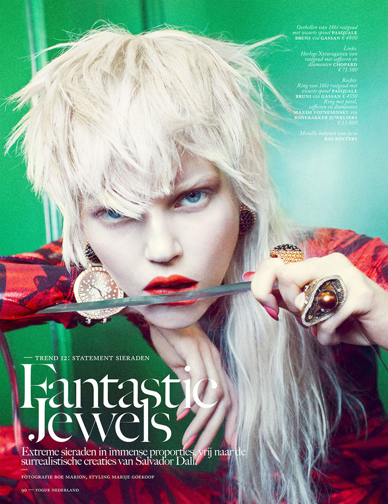 Ola Rudnicka from Boe Marion for Vogue Netherlands March 2014 - Fabulous Jewels