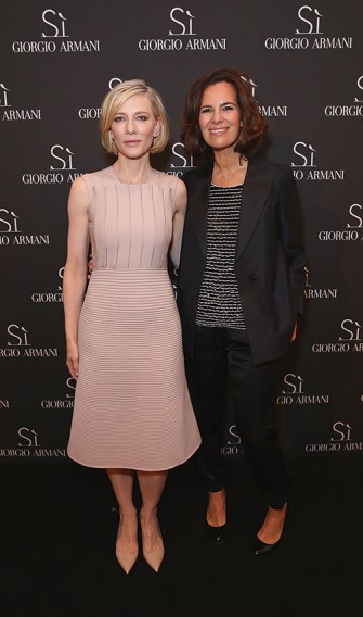 Cate Blanchett and Roberta Armani at Giorgio Armani Parfums Si Gathering Day in London, England.
