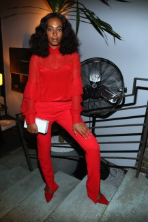 NEW YORK, NY: Solange Knowles attends The House of Peroni Opening Night hosted by Francesco Carrozzini in New York City. (Photo by Sylvain Gaboury/Patrick McMullan via Getty Images)