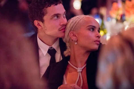 Zoe Kravitz with bae at the amfAR awards in New York last week ©Kevin Tachman
