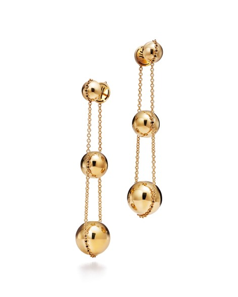 """Tiffany """"City Hardwear"""" earrings - The metal link design captures the industrial spirit of New York City."""