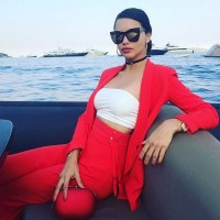 Stylish Girls: Adriana Lima Wore The Perfect Red Suit Vacationing In Monaco