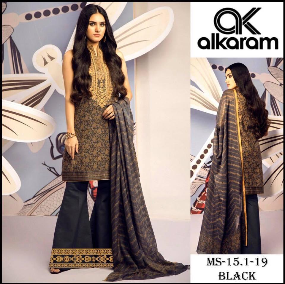 Brand Alkaram Vol 20 Available In Lawn Fabrics 3pc Pakistani