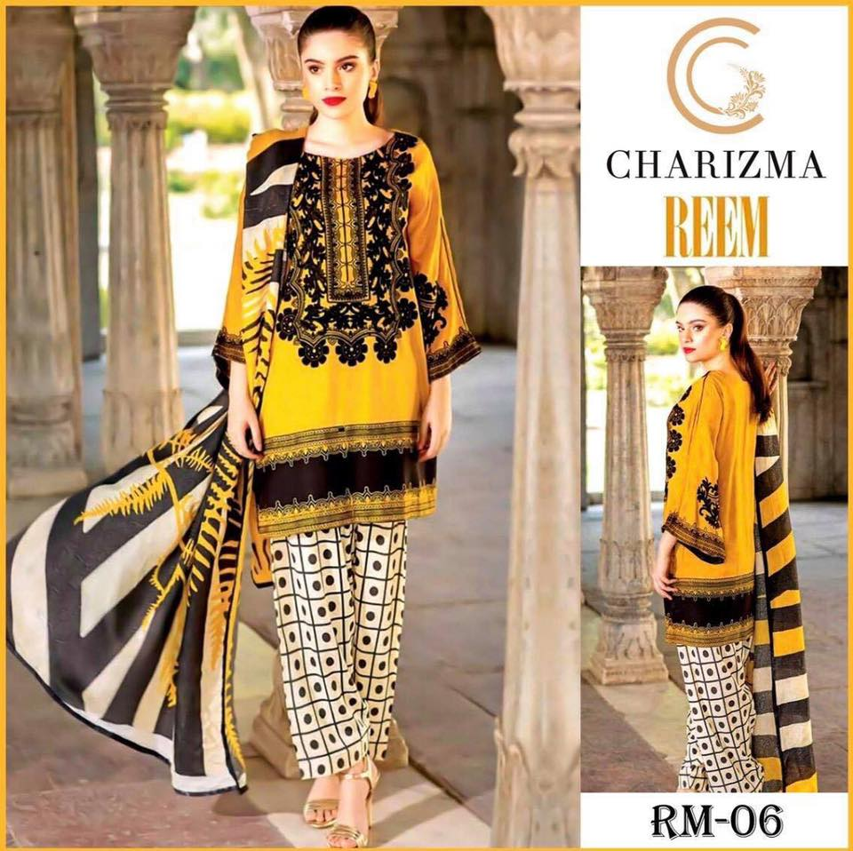 Brand Charizma Vol 20 Available In Lawn Dresses 2020 Fabrics 3pc