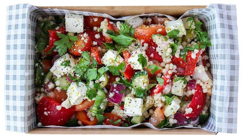 greek salad in box