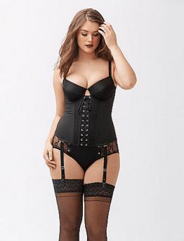 demi cup corset