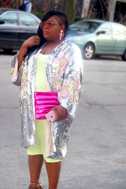 ASOS sequin kimono