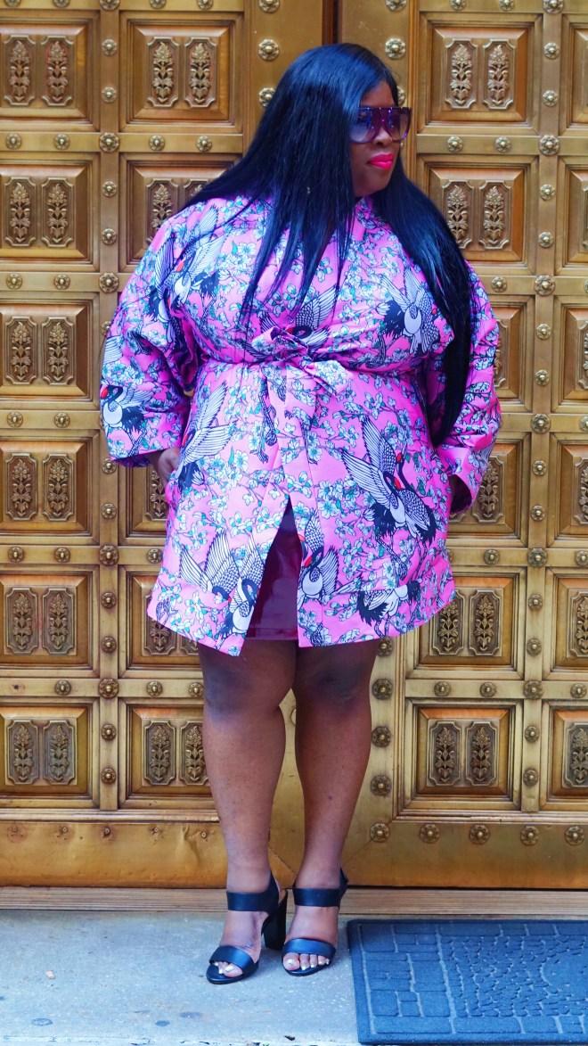 ASOS Kimono in Cherry Blossom Jacquard .......