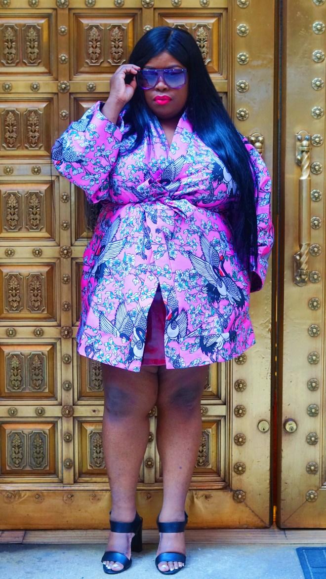 ASOS Kimono in Cherry Blossom Jacquard ......