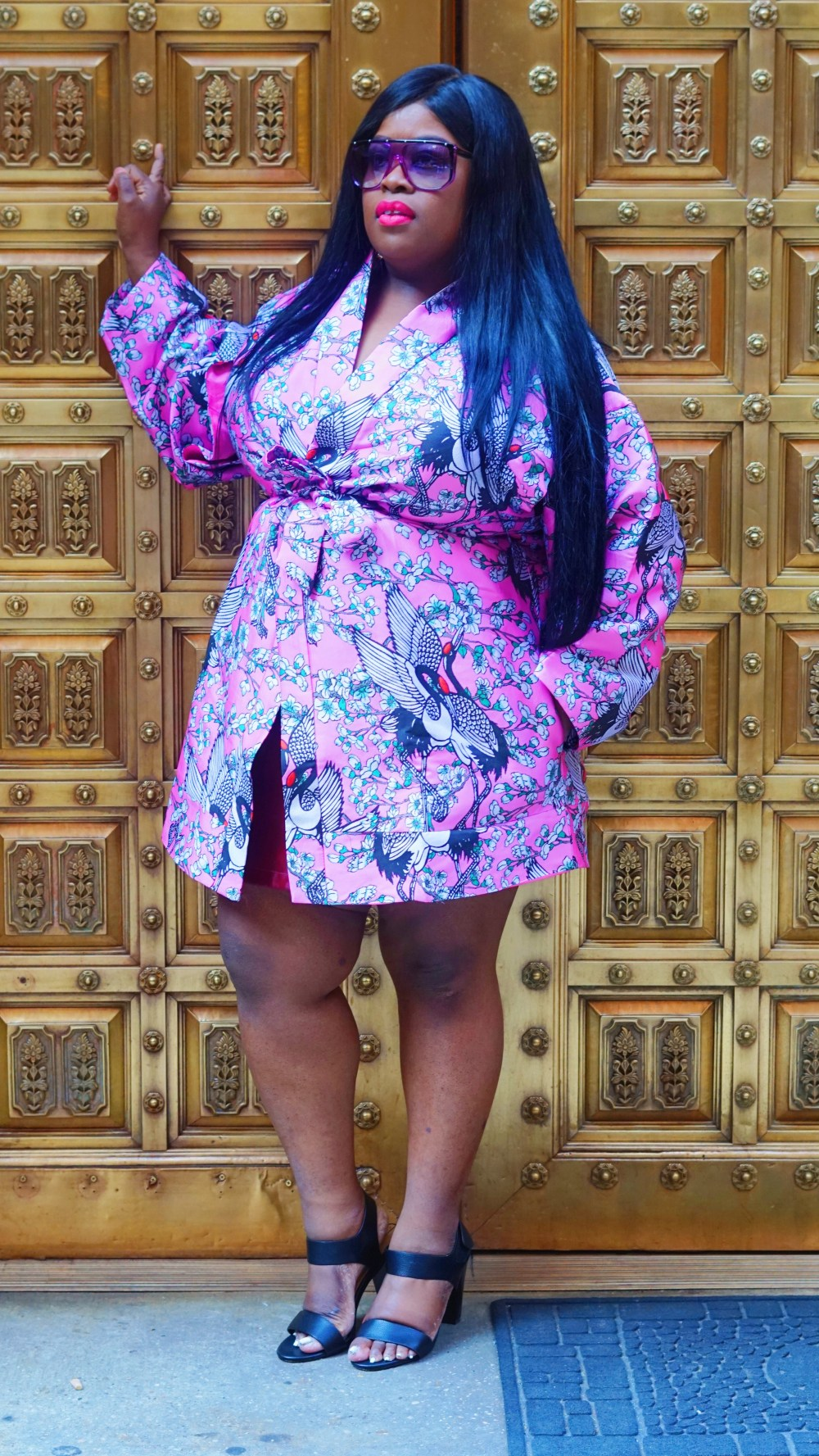 ASOS Kimono in Cherry Blossom Jacquard .....