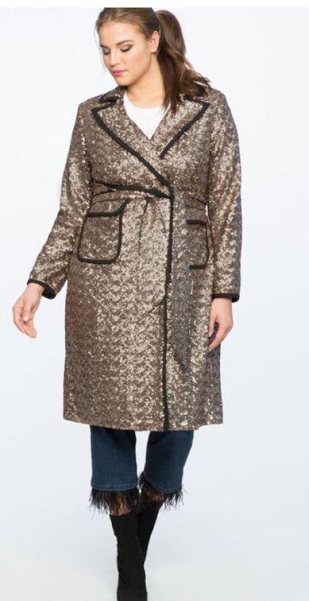trench coat sequin