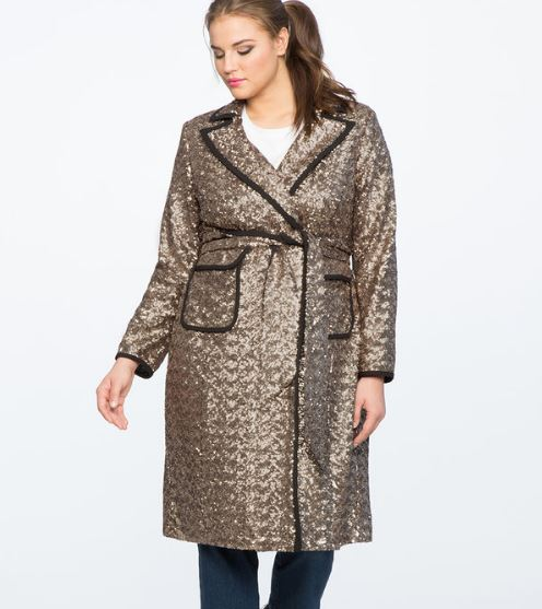 trench coat sequin