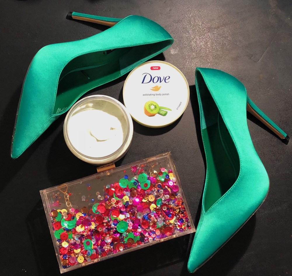 Dove Exfoliating Body Polish, Dove beauty bar, dove body wash, dove products, green heels